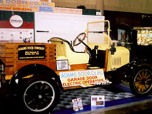 Adams first garage door delivery truck from 1949