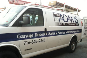 Adams modern installation and service truck