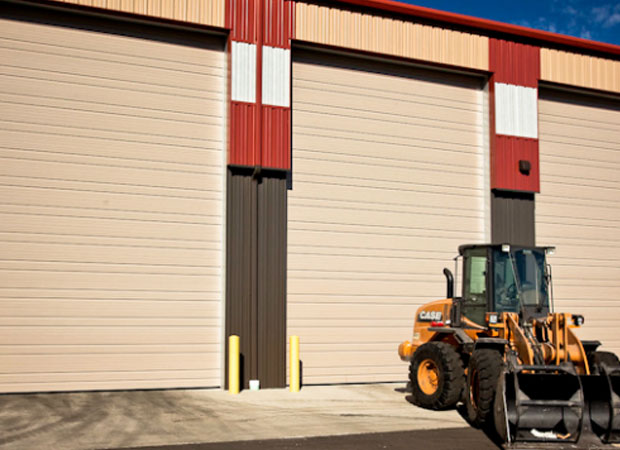 Haas Ribbed Steel Commercial Doors