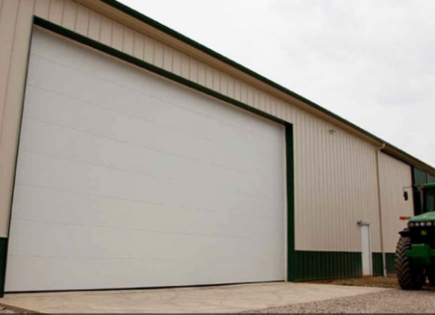 Haas Door - Model 816 Commercial Garage Door In White Finish