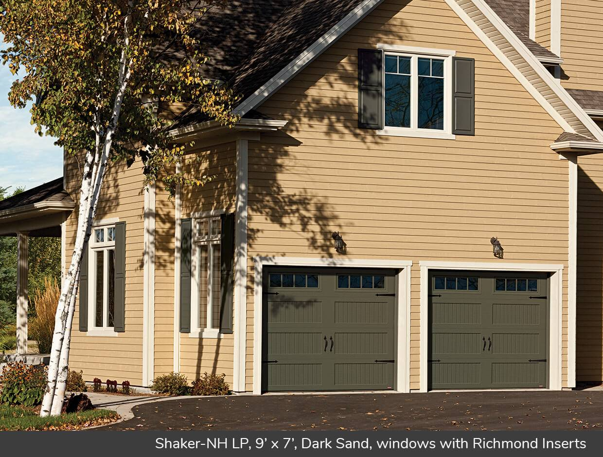 Shaker NH LP, 9' x 7', Dark Sand, windows with Richmond Inserts