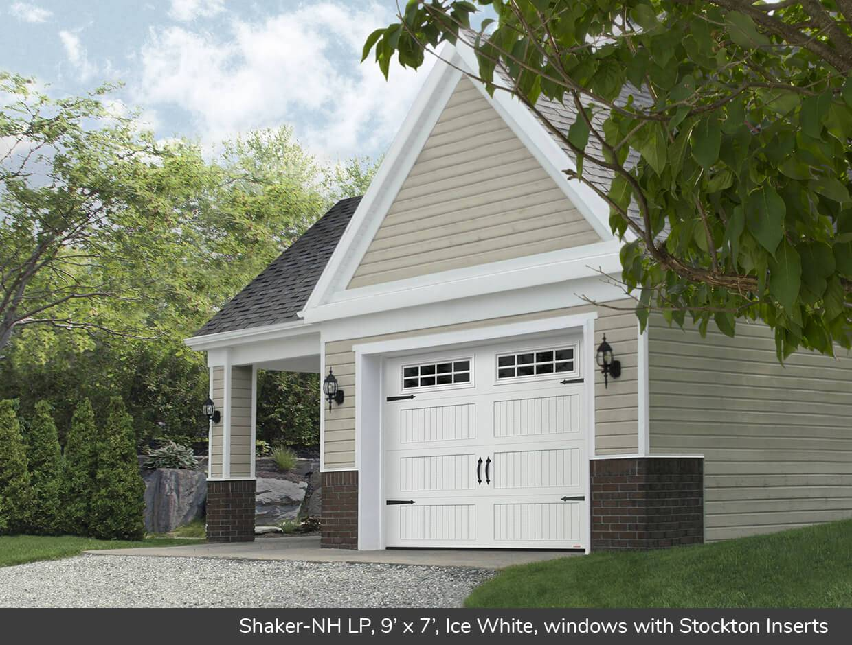 Shaker NH LP, 9' x 7', Ice White, windows with Stockton Inserts