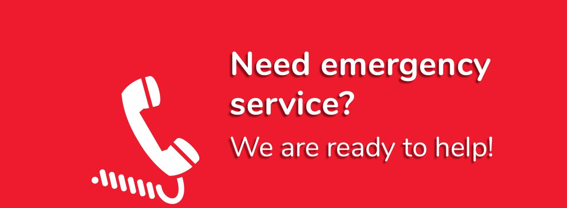 Need emergency service ? We are ready to help!